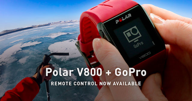 Polar V800 and GoPro